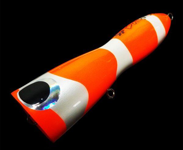 Borboleta Ballyhoo GT Poppers Orange Nemo